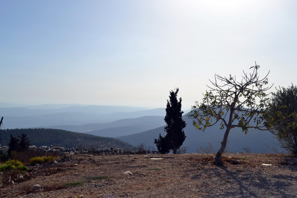 Looking towards the Kinneret